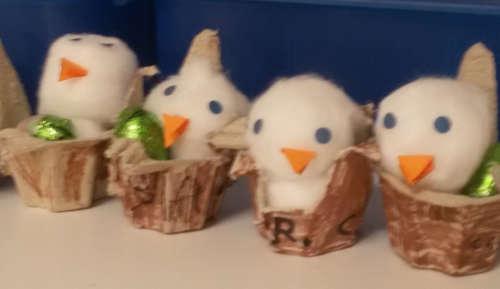 Happy Easter dai pulcini fatto dal gruppo pre-scolastico!